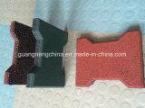 Met elkaar verbindende RubberTegel, de RubberTegels van de Speelplaats, de Antislip RubberTegel van de Vloer van de Tegels van de Vloer Rubber