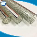 La haute pression en PVC transparent et d'acier tressé en fibre flexible renforcé de métal