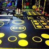 SGSは頑丈なDIYのロゴの体操のゴム製フロアーリングをテストした