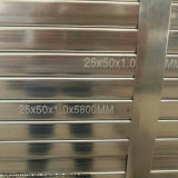 60mm 사각과 장방형 관 Gi 관 탄소 강철 관에 의하여 직류 전기를 통하는 강관