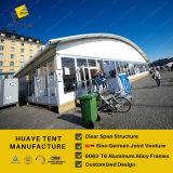 Алюминиевый шатер Arcum с белыми крышками крыши PVC & стеклянными стенами (HAC)