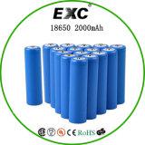 18650 batteria di ione di litio cilindrica di 3.7V 2000mAh