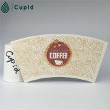 El PE revestido del ventilador de la taza de papel de Hztl China para el café/la bebida caliente