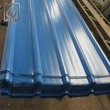 Hoja de acero galvanizada PPGI llena del material para techos acanalado trapezoidal de la dureza