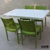 Haut de marbre chaud populaire vendre Table à manger avec socle