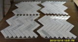 호화스러운 디자인 쉘 및 대리석 헤링본 모자이크 패턴 모자이크 타일