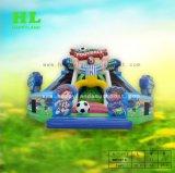 De kleurrijke Speelplaats van de Uitsmijter van het Doel van de Voetbal van het Stadion van het Voetbal Opblaasbare