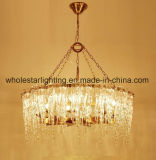Moderner Leuchter mit Glasblatt-Farbton (WHG-8225)