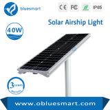 40W 50000horas de vida útil da lâmpada de Rua Solar Inteligente com fonte de luz