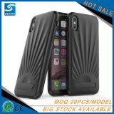 Heißer Verkauf für iPhone 7 Telefon-Kasten des Aluminiumlegierung-Standplatz-TPU, für iPhone 8 Fall