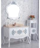 Cabina montada en la pared de la vanidad del cuarto de baño de la madera contrachapada y de madera sólida (LZ-131)