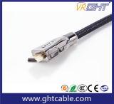 1.2m Goud Geplateerde Kabel HDMI Van uitstekende kwaliteit met Nylon Vlechten