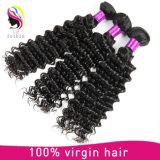 Cheveu humain de Remy de prix usine d'onde profonde brésilienne chaude de vente