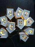 Lumière neuve de chaîne de caractères de DEL avec la décoration en forme de coeur, lumière de Noël