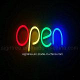 Het hangende Teken van het Neon van de Raad van het LEIDENE Teken van de Deur Open Gesloten