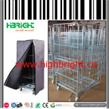 500kg Heavy Duty Warehouse Cargo Trolley Cart with Adjustable Platform
