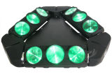 9 ogen   9X10W LED Spider Light DMX Control LED Beam Moving Head Spider Light