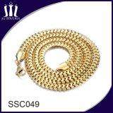Colar de jóias de corrente de aço inoxidável projetado novo