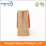 Red Ribbon Packaging Bags를 가진 Kraft Paper Bags