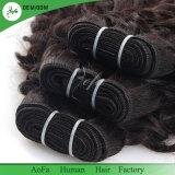 バージンの毛の織り方のペルーの巻き毛の人間の毛髪