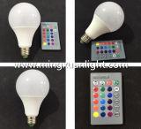 高い発電10W E27のリモート・コントロール16のカラーRGB LED球根ランプ