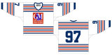 Casa dei General 1937-1953 di Oshawa della Lega di Hockey di Ontario/hokey ghiaccio personalizzati della strada Jersey
