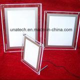 Diodo emissor de luz que anuncia a caixa leve de cristal acrílica do indicador