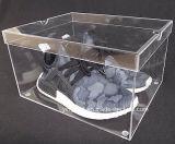 De grote Glasheldere Stapelbare AcrylDoos van de Vertoning van de Schoen