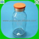 Bernsteinfarbige geformte Einspritzung-Flasche
