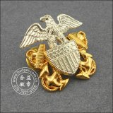 Überzogenes Metal Badge, Gold Badge mit Diamonds (GZHY-CY-023)