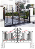prix d'usine Gavanlized/Gate, portes de fer en acier avec une bonne qualité