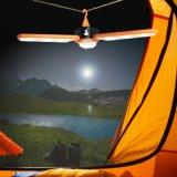 접히는 거여목 USB 재충전용 램프 태양 강화된 야영 손전등 빛