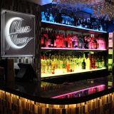 Écran acrylique LED chinois, armoire à vin avec ampoule LED