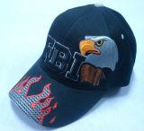 Heiße Panel-Baseballmütze des Verkaufs-6 mit großem Firmenzeichen Bb155