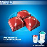Caucho de silicio de condensación líquida para almohadillas (HY-918)