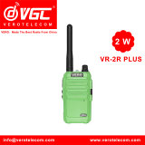 2W UHF Pocket Radio de Dos Vías 16CH Verde Walkie Talkie