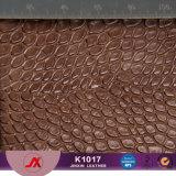 熱い販売のワニパターン装飾的のための総合的なPVC革イミテーション・レザー
