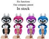 対話型指の子供のおもちゃの接触または動きまたは音ペット幸せなFingerlingsのリス
