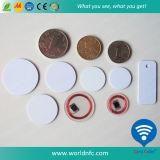 Cartão de moeda RFID Ntag213 RF de alta qualidade de 13,56 MHz