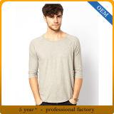 De T-shirts 100% de chemise d'hommes ordinaires de coton du modèle 170g demi