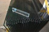 China mejor flotación claro Canto pulido/agujeros con el radio de cristal templado de la esquina de la puerta de seguridad
