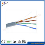 Cable blindado soporte del twisted pair del gato 5e del alambre de acero de F/UTP