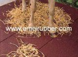 牛馬象のサイのゴム製マットまたはゴムフロアーリングかゴムペーバー(EN1177証明書)