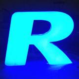 매우 밝은 LED 아크릴 채널 편지