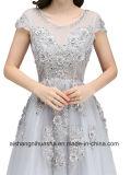 Платье вечера втулки платья вечера цветка шнурка кристаллический Beaded официально