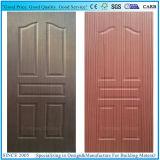 Contre-plaqué en stratifié/moulé de peau de porte avec le placage en bois normal ou conçu
