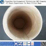 Agua perforada aguja no tejida del filtro y bolso de filtro de repelente de aceite del polvo de Aramid para la industria