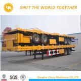 Essieux chauds du transporteur 3 de conteneurs de vente de 40 pi de lit plat remorque extensible semi