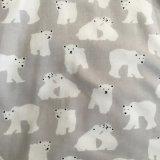 ткань фланели хлопка ткани 2017winter напечатанная для пижам и Sleepwear повелительниц