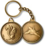 Figura Keychain, anello chiave inciso di marchio (GZHY-KA-002) della moneta